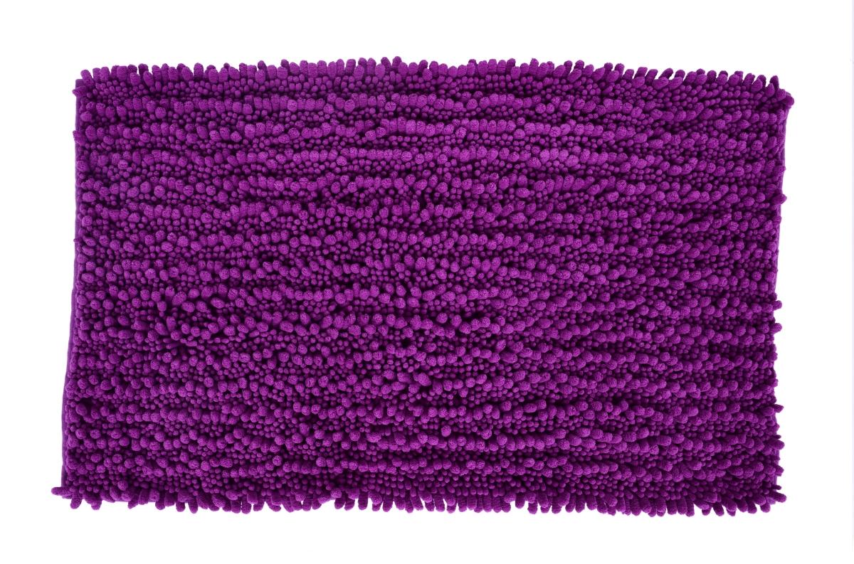 3D CORAL koupelnová předložka tmavě fialová