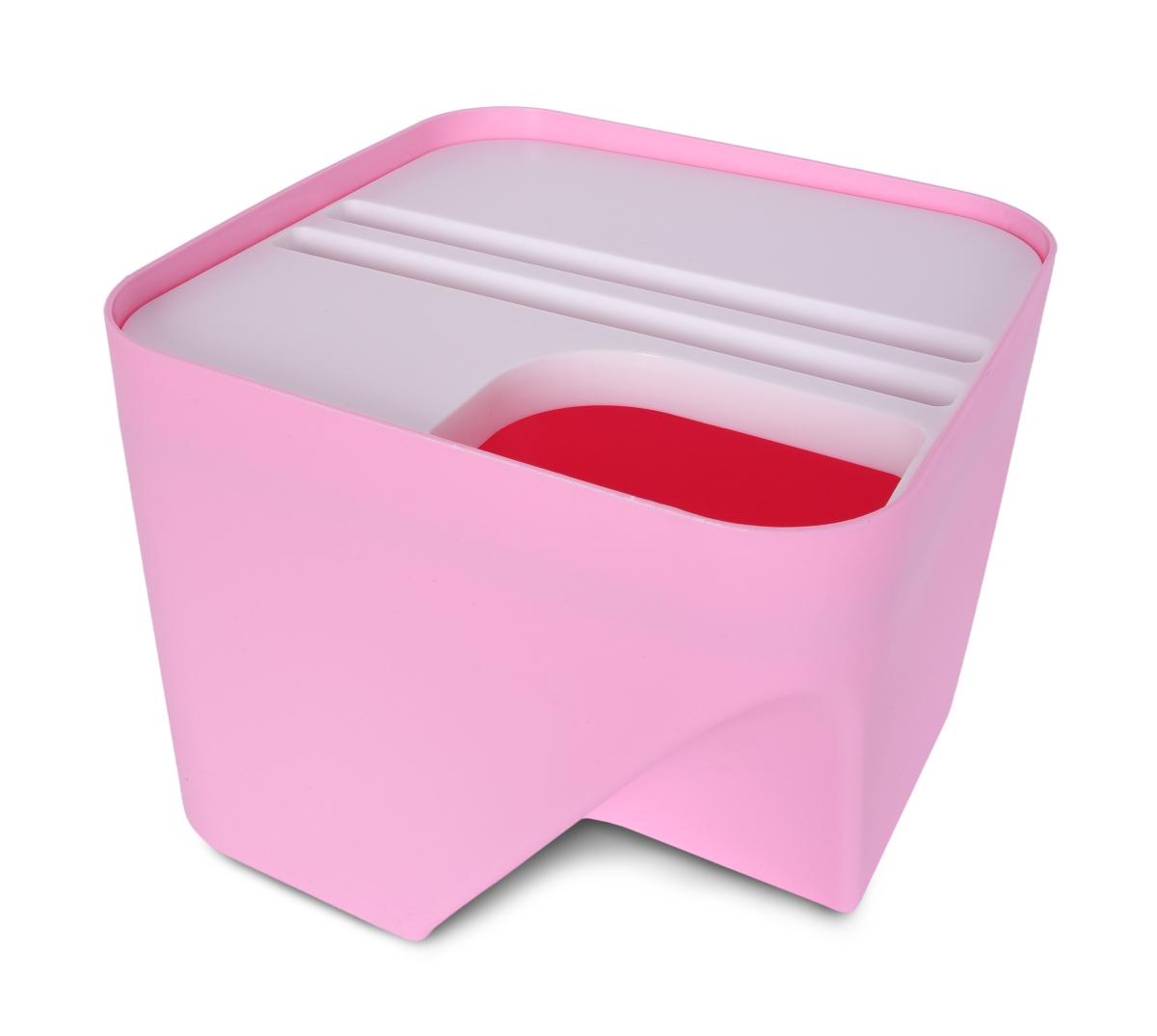 TOTEMUS designový koš stohovatelný, růžový