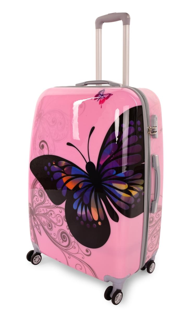 Kufr velký PINK BUTTERFLY 50 x 30 x 70 cm