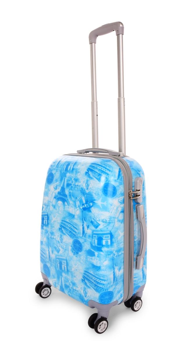 Kufr menší CITIES BLUE 37 x 23 x 50 cm