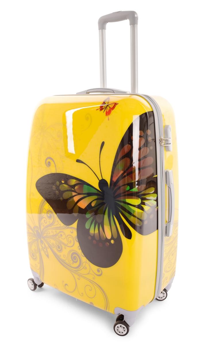 Kufr velký YELLOW BUTTERFLY 50 x 30 x 70 cm