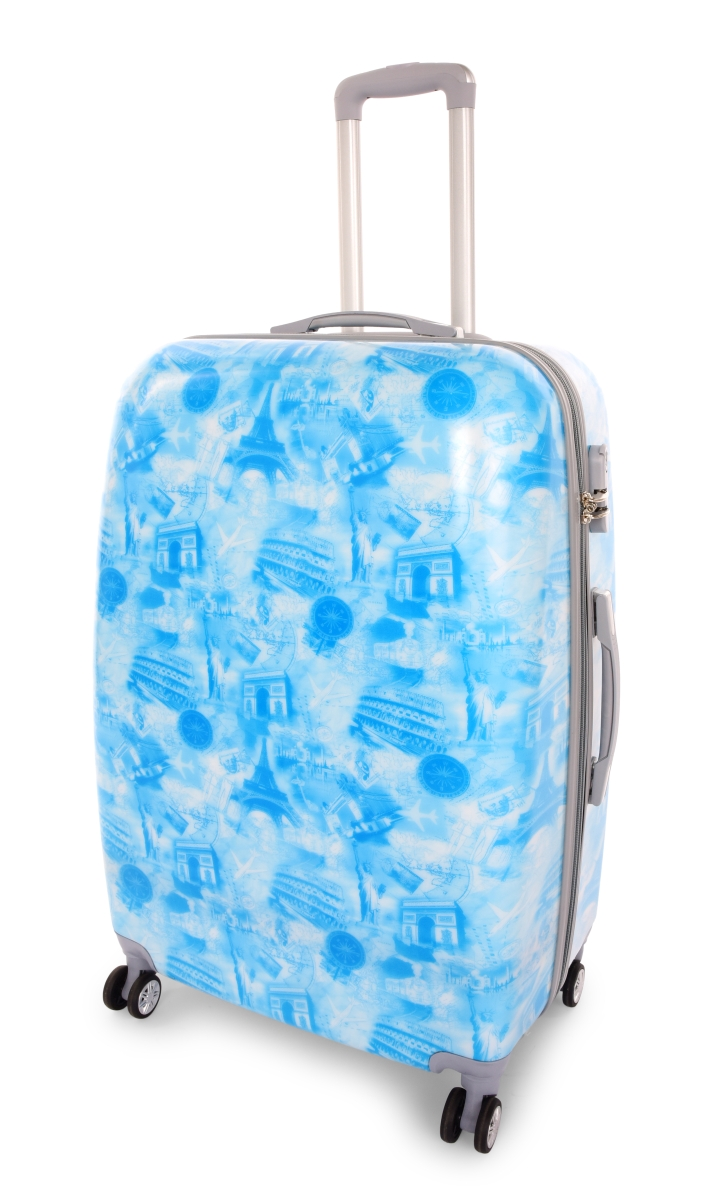 Kufr velký CITIES BLUE 50 x 30 x 70 cm