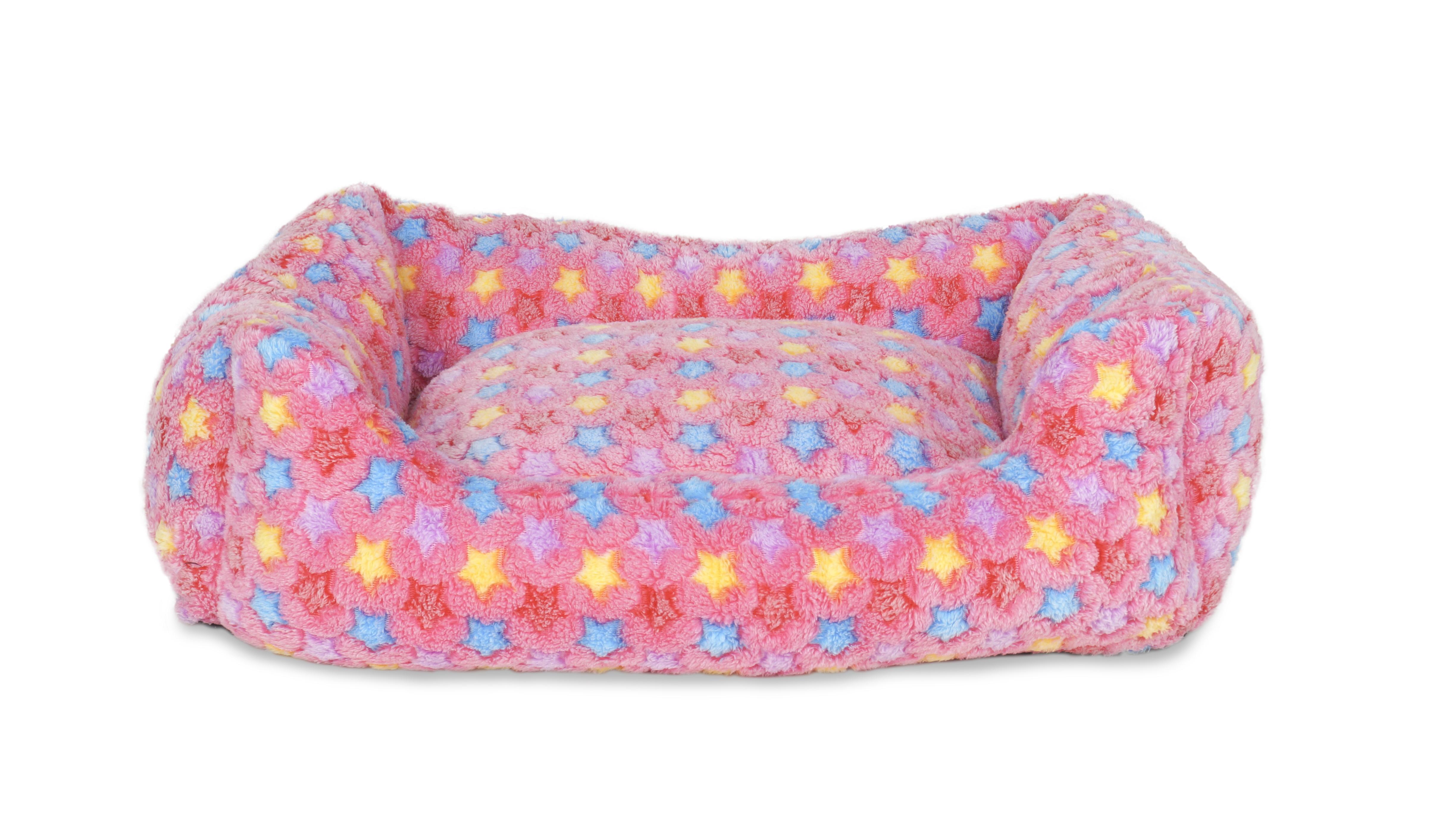 Polstrovaný pelíšek pastelově růžový vel. L