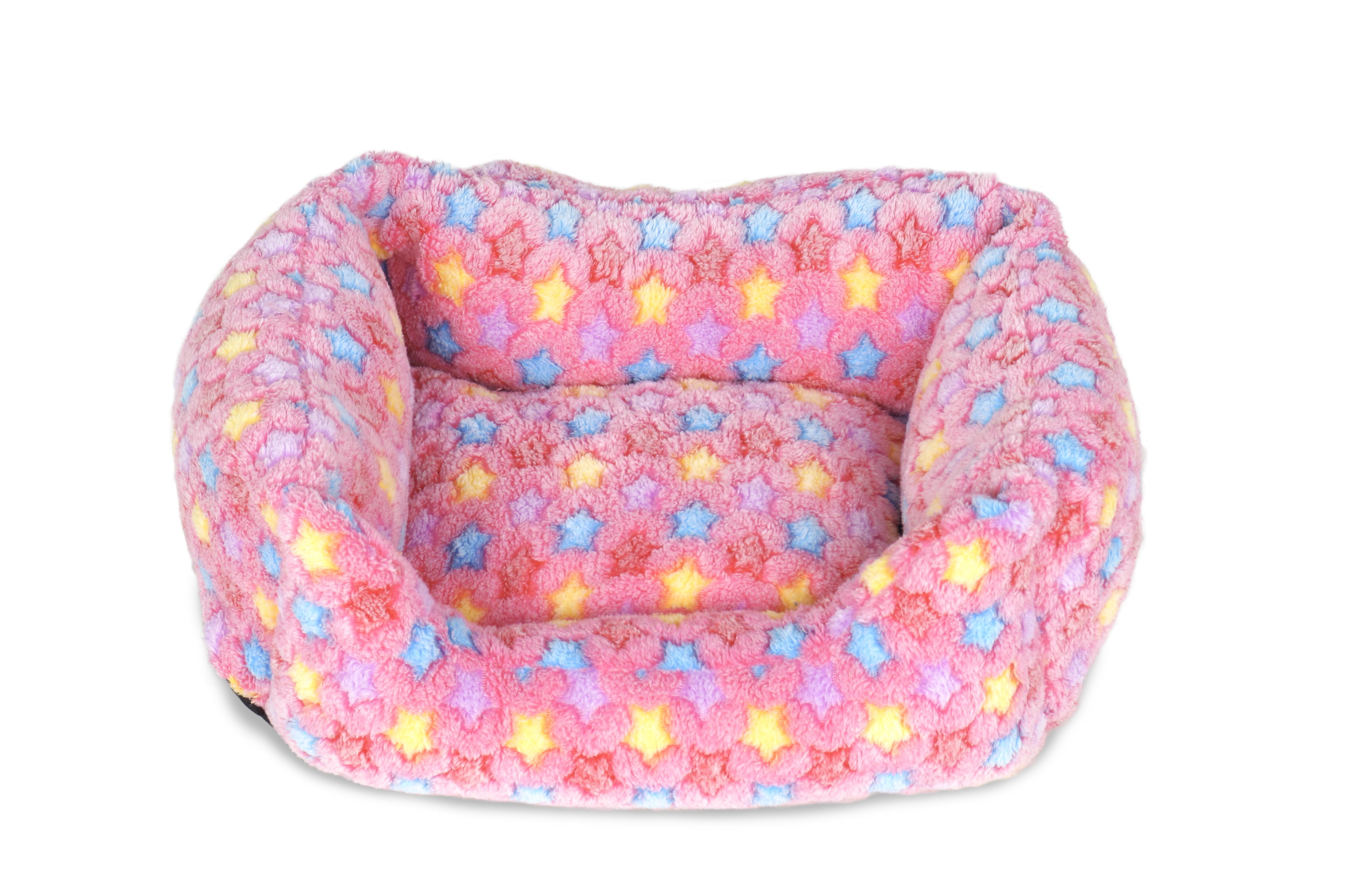 Polstrovaný pelíšek pastelově růžový velikost M