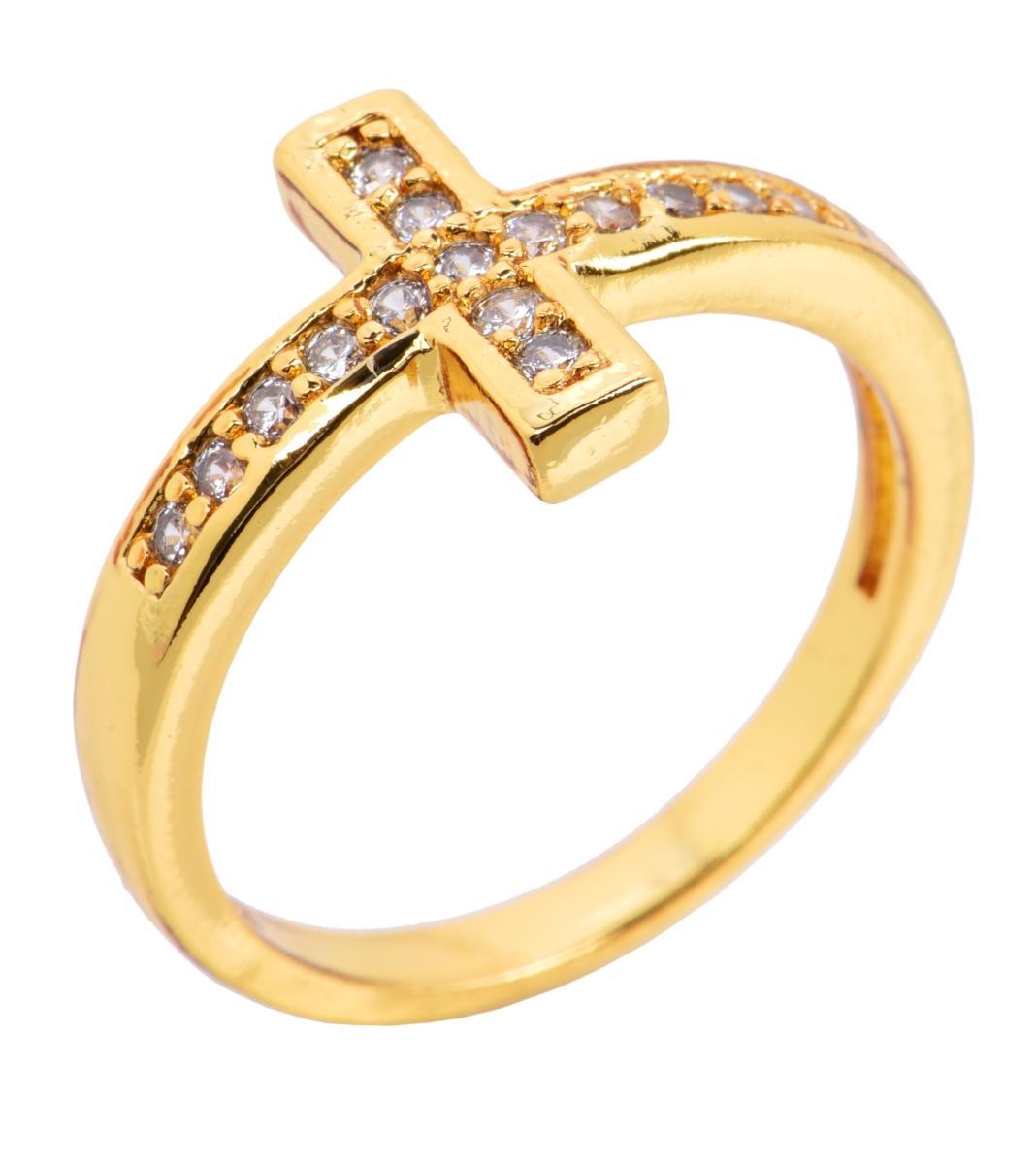 Prsten se zirkony pozlaceno 24 Kt. 2(vel.7)