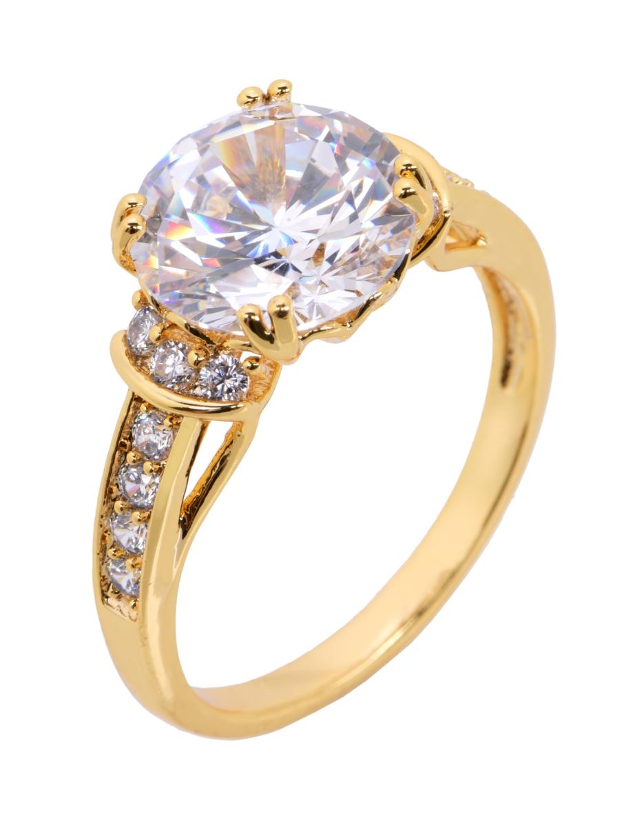 Prsten se zirkony pozlaceno 24 Kt. 6(vel.11)