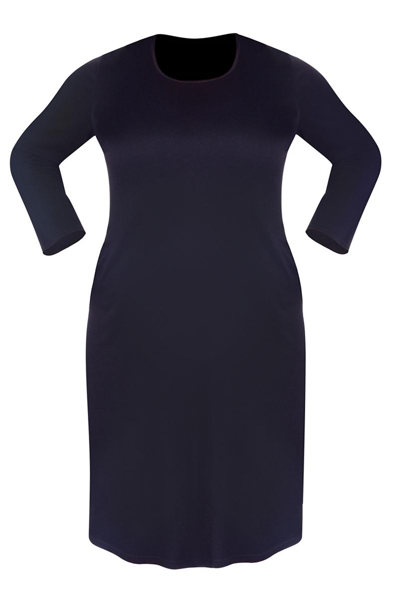 CLAUDIE  černé šaty s kapsami s dlouhým rukávem