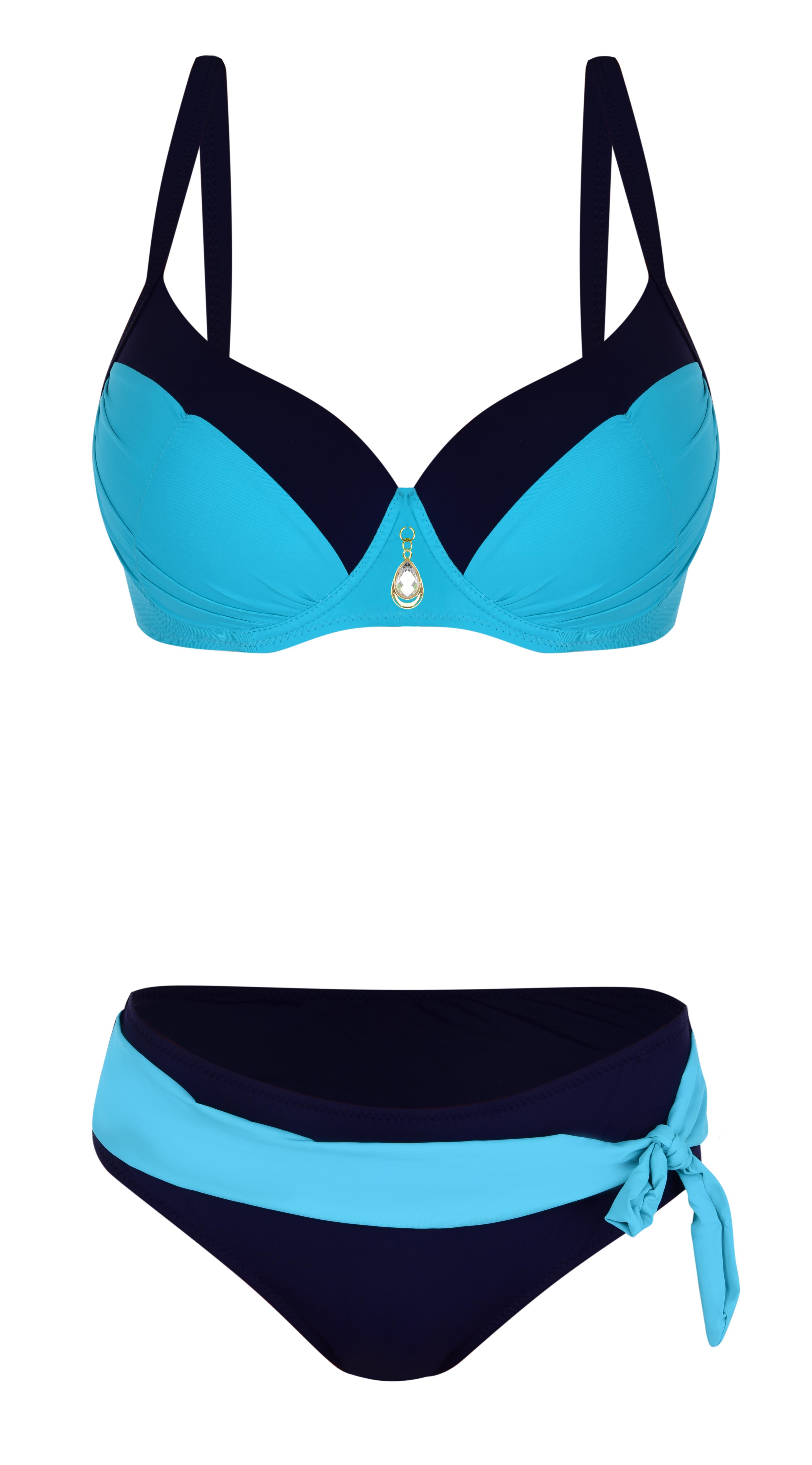 FC21101-VICTORIA dvojdielne plavky tyrkysovo modré