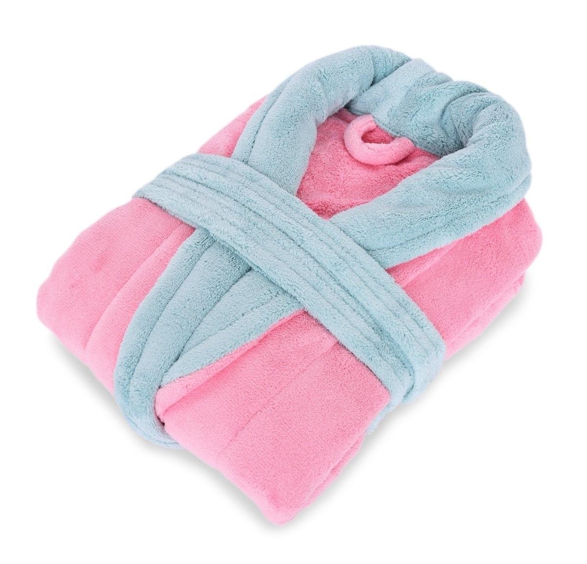 ŽUPAN s šálovým límcem  LAGOON TOUCH pink & mint