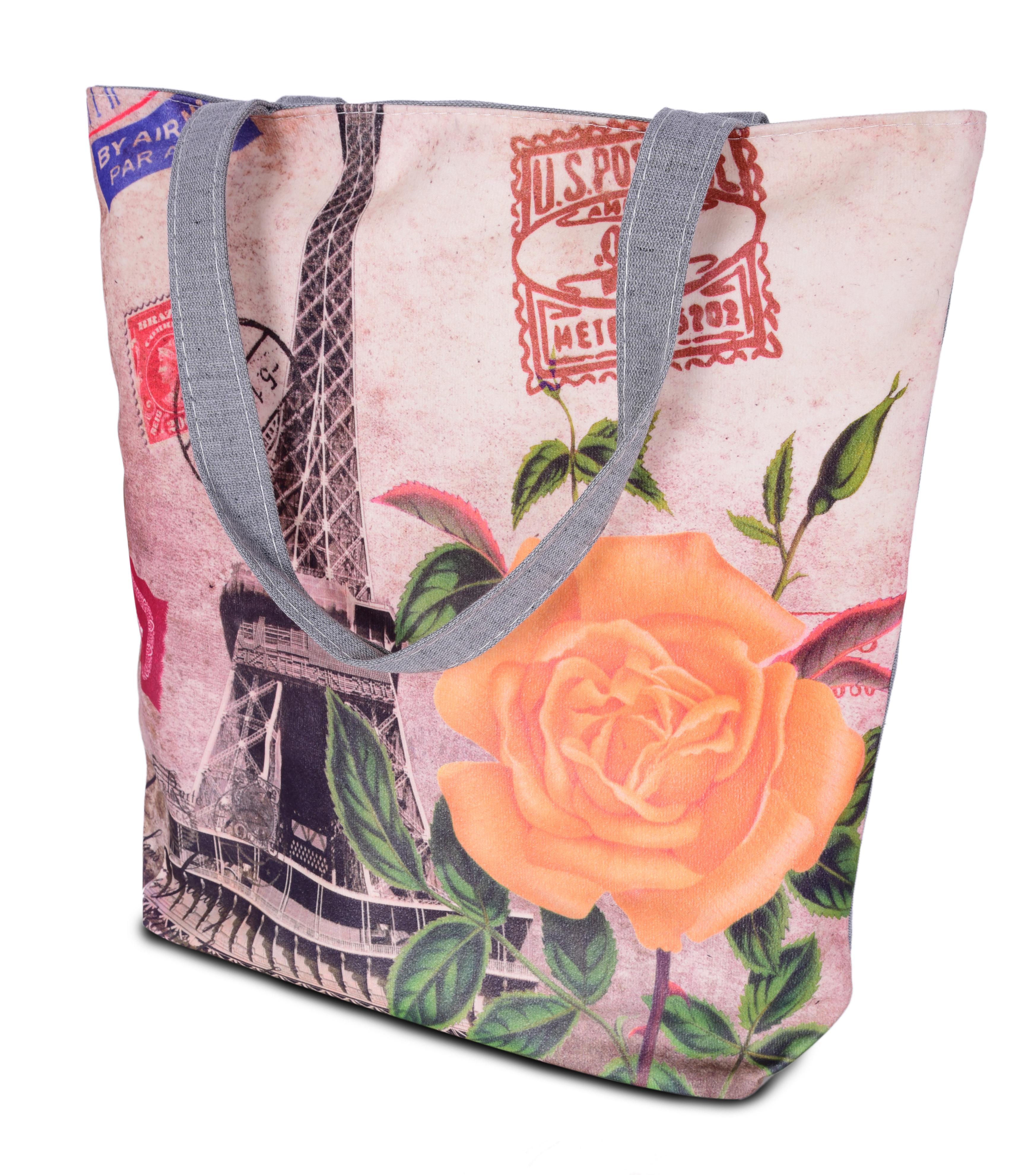 Elegantní taška textilní orange rose