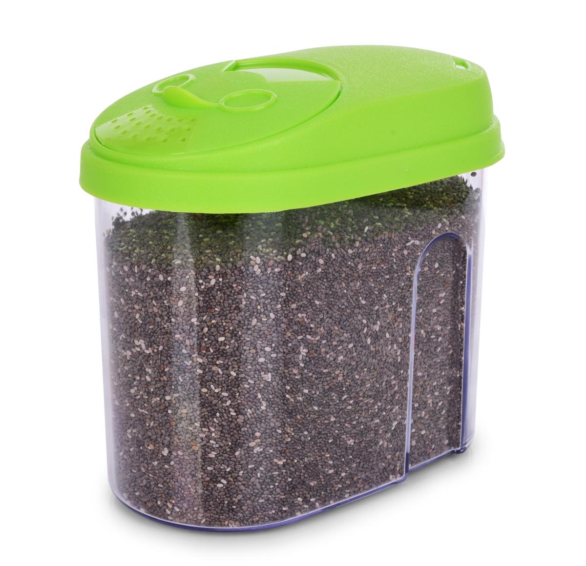 Dóza na potraviny, s farebným vekom 900 ml - zelená