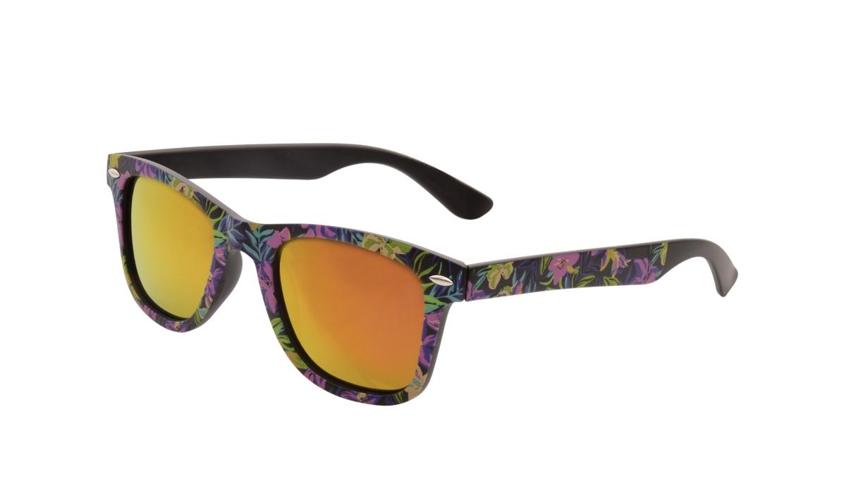 Sluneční brýle  100% UV ochrana fialové květy