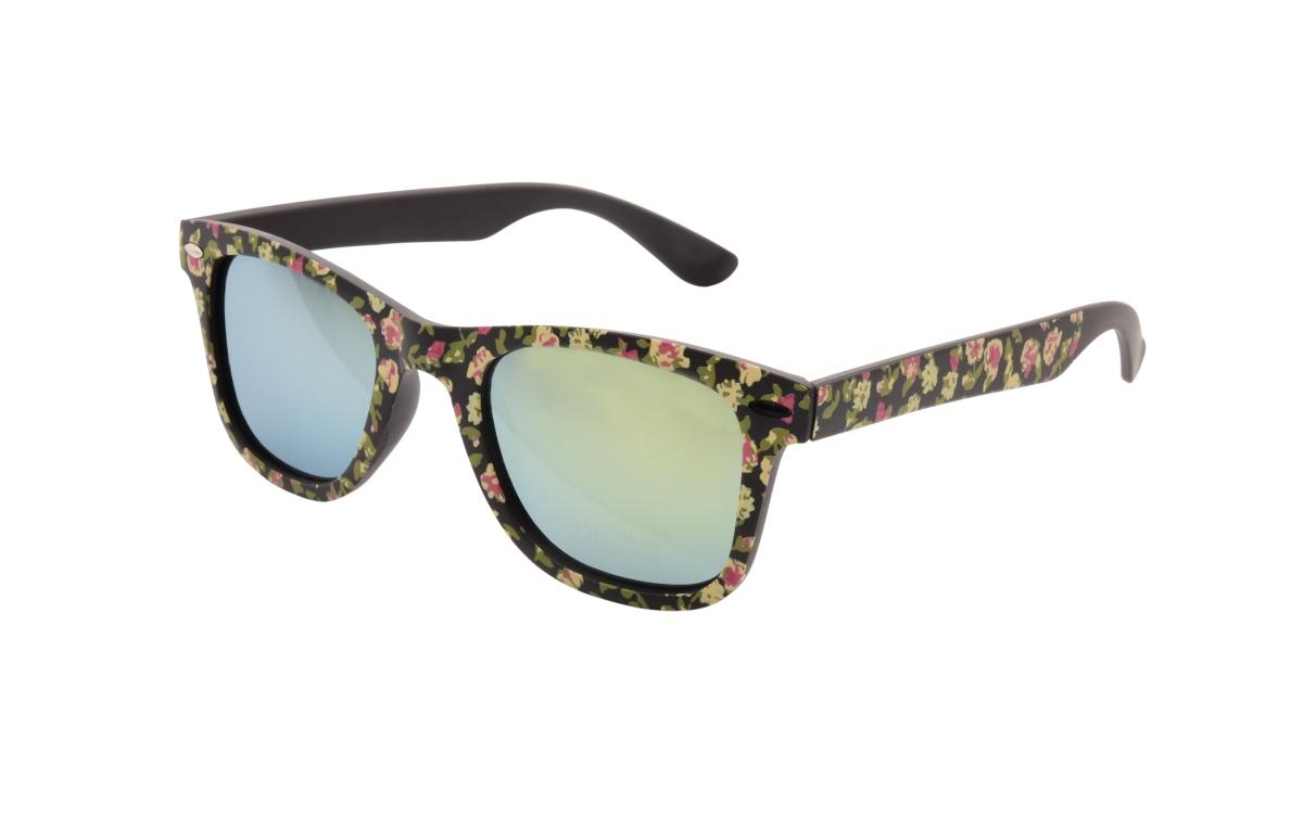 Sluneční brýle  100% UV ochrana černé s růžemi
