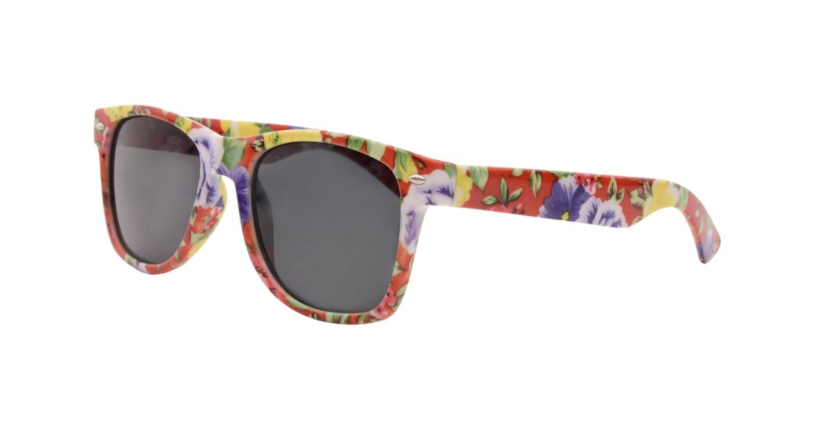 Sluneční brýle  100% UV ochrana fialkovo-žluté květy