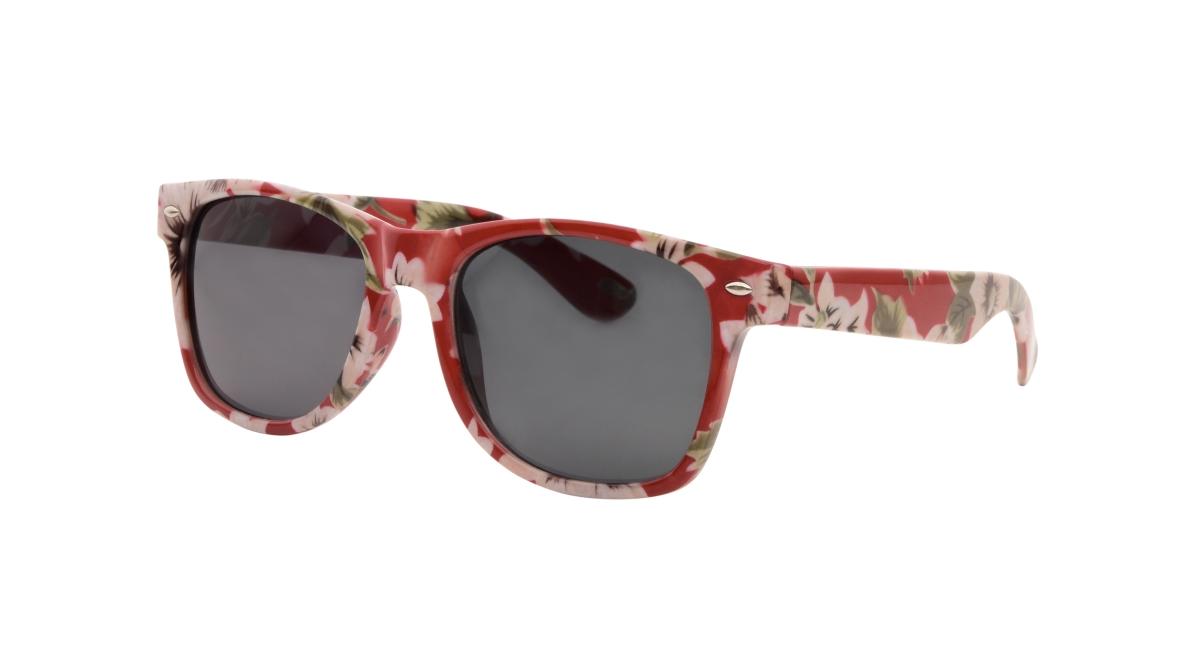 Sluneční brýle  100% UV ochrana krémové květy