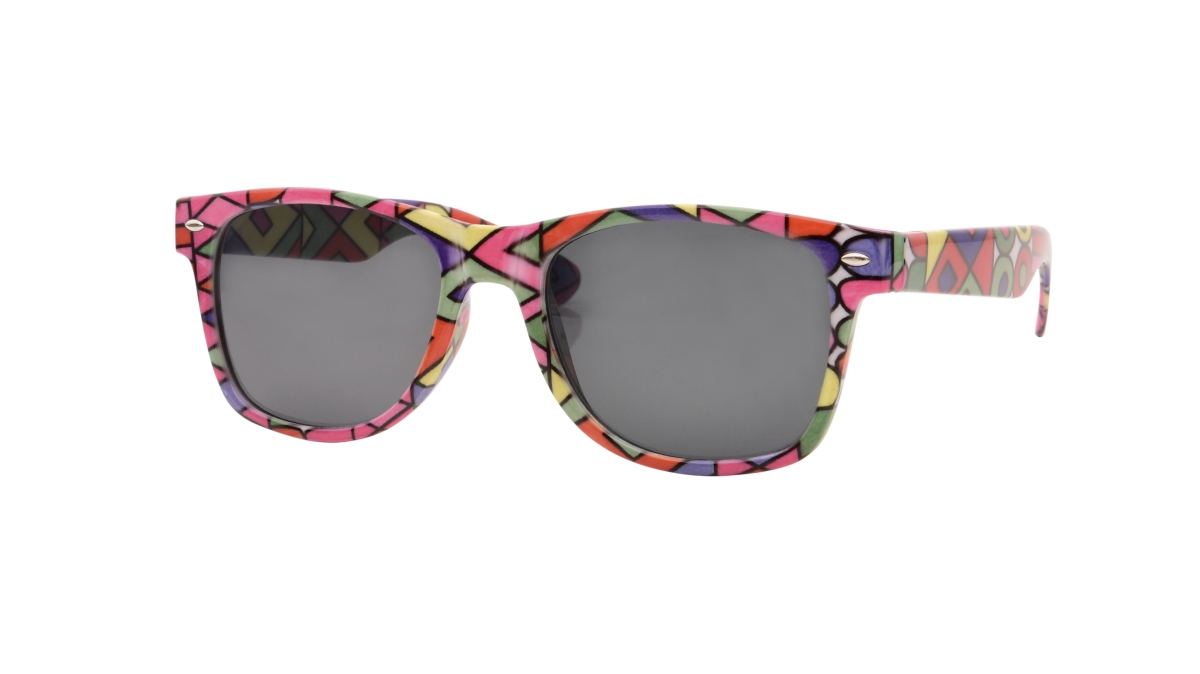 Sluneční brýle  100% UV ochrana color geometric