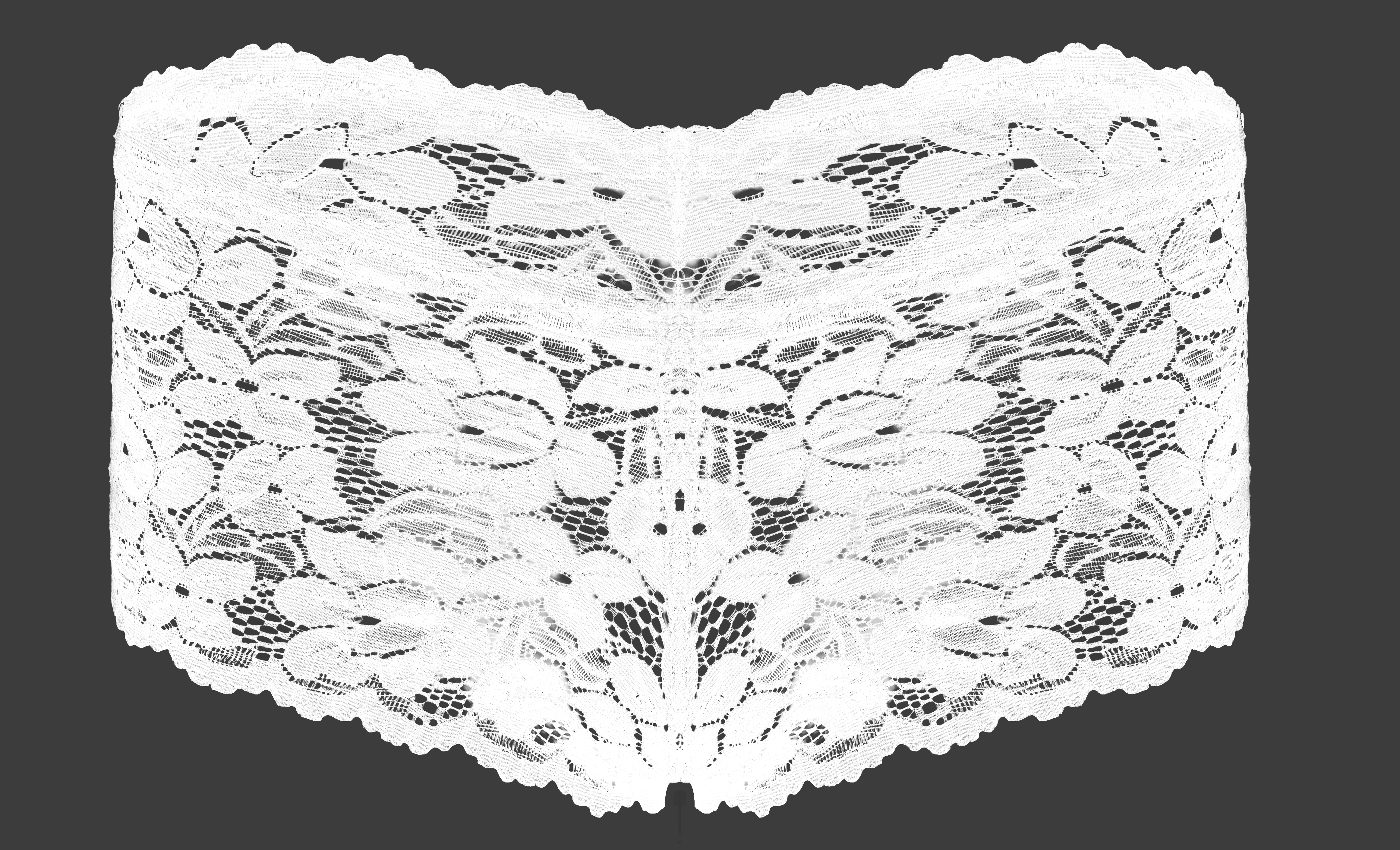 Celokrajkové kalhotky BOXERKY bílé vel.1(S)