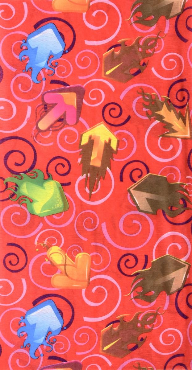 Multifunkčníšátek oranžový s šipkami