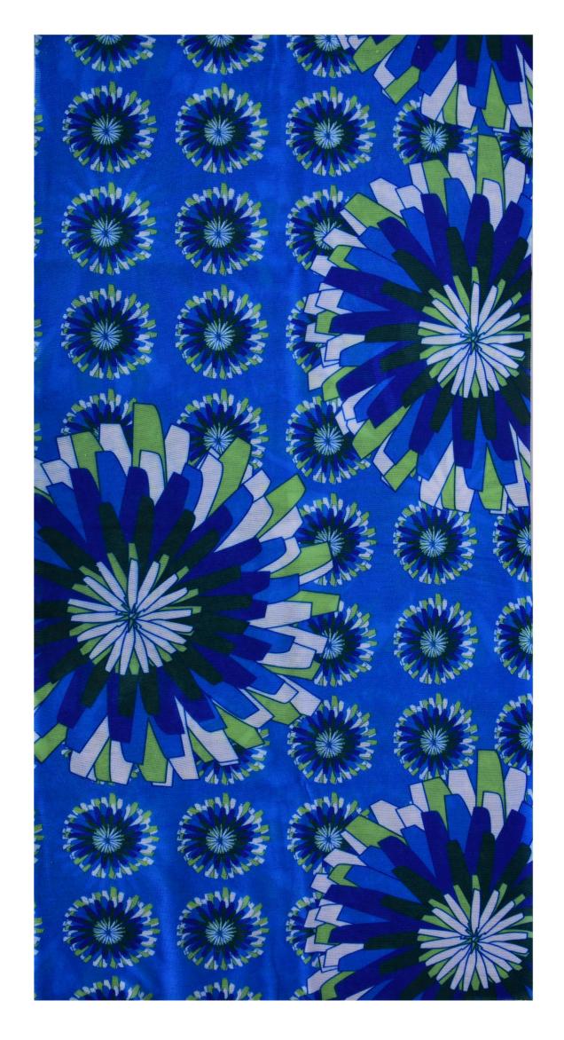 Multifunkčníšátek modré květy