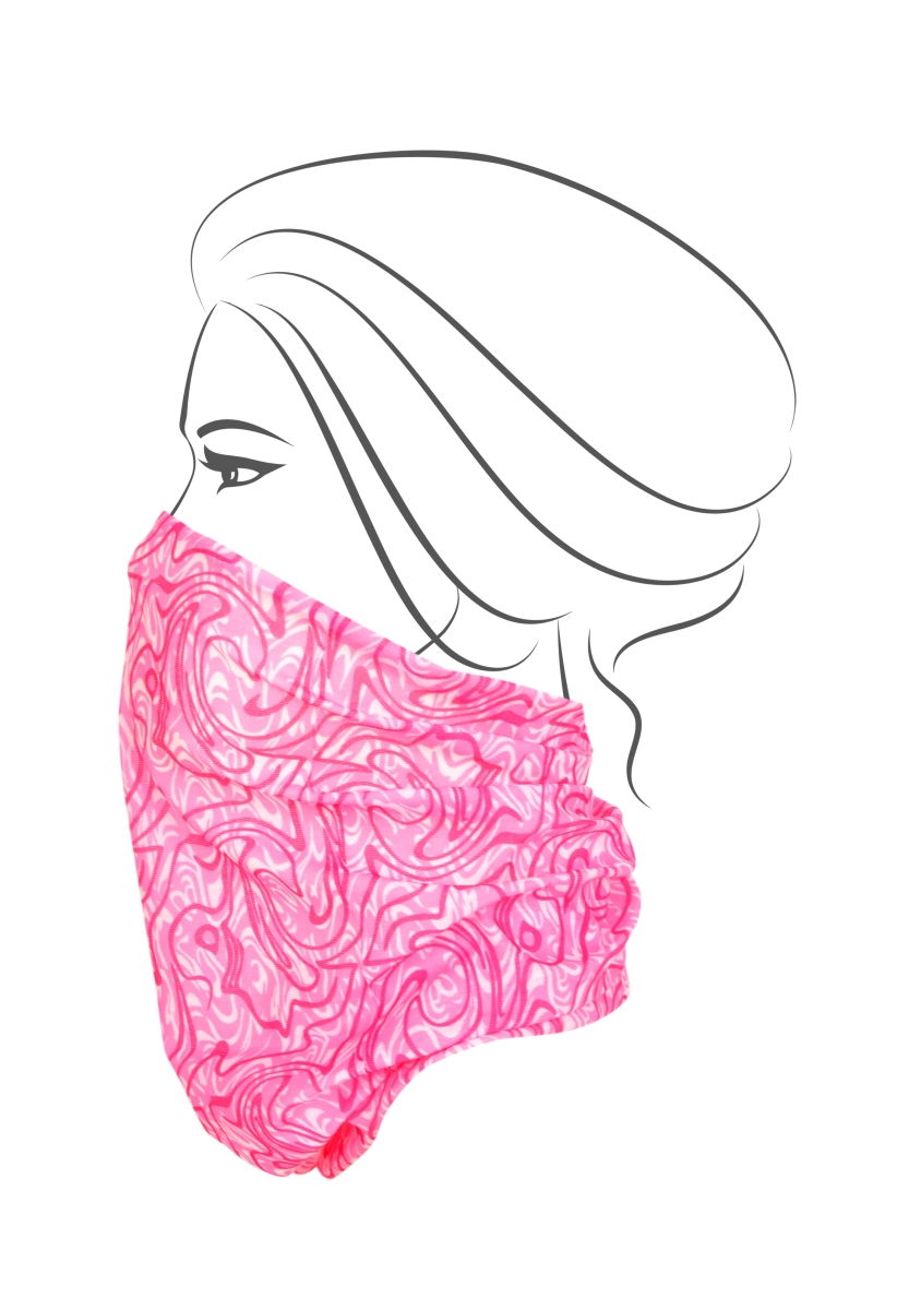 Multifunkční šátek, růžovým s ornamentem
