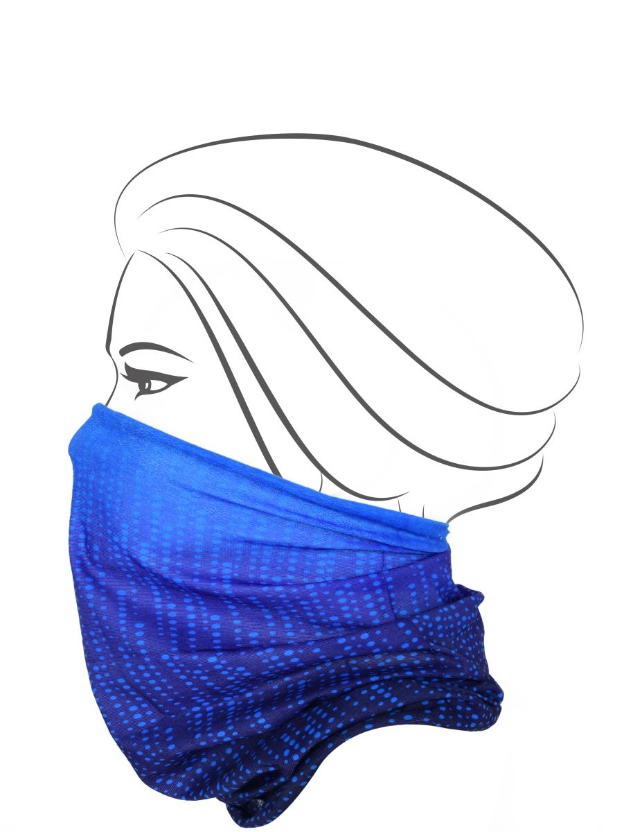 Multifunkční šátek, modré tóny