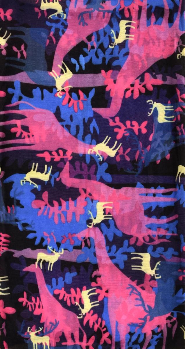 Multifunkčníšátek růžové žirafy