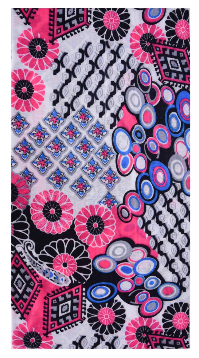 Multifunkčníšátek růžovo modré ornamenty