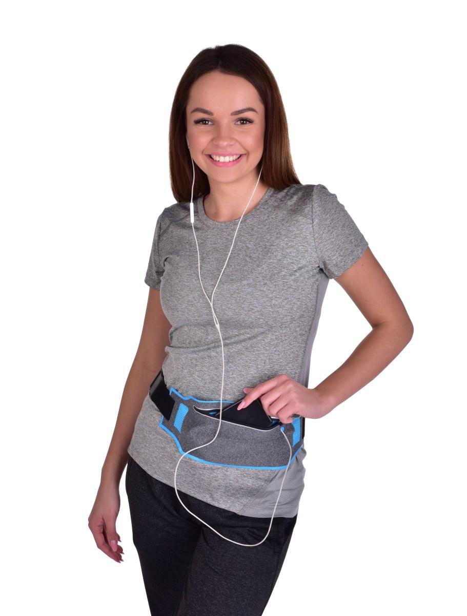 93bb879e7 ... DA20842-Športové púzdro okolo pása UNIVERSAL SLIM elastické s vreckom  na zips a reflexnými prvkami ...
