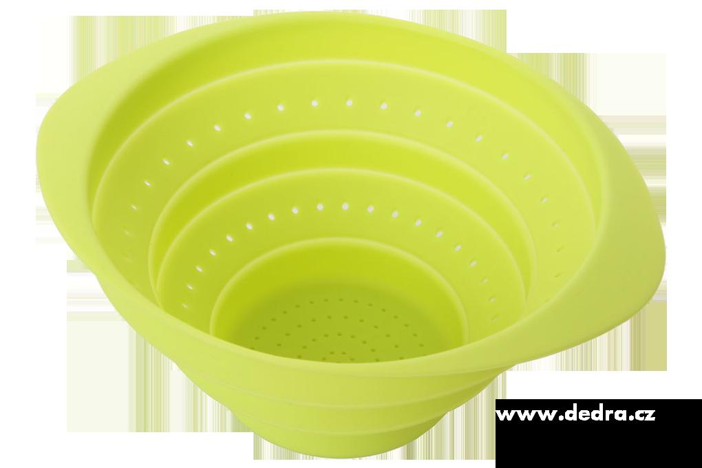 Skládací silikonovýcedník -jasně zelený19,5 x 16 x 2cm/9cm
