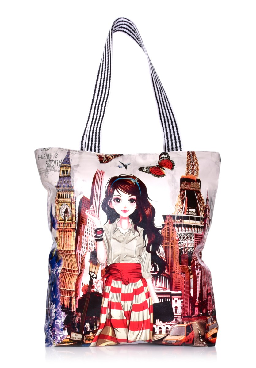 Elegantní kabelka v přední části z ekokůže  City girl
