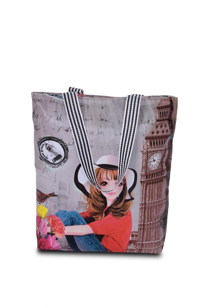 Elegantní kabelka v přední části z ekokůže  London lady