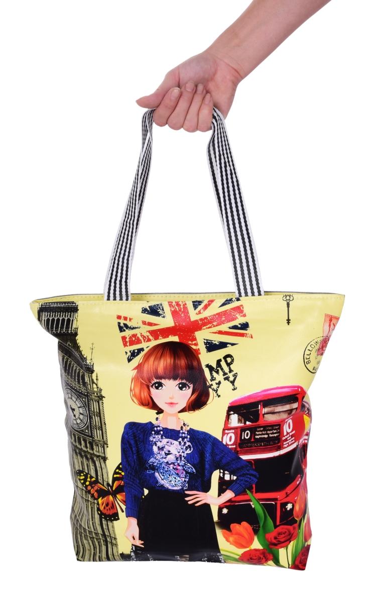 Elegantní kabelka v přední části z ekokůže  London bus&lady