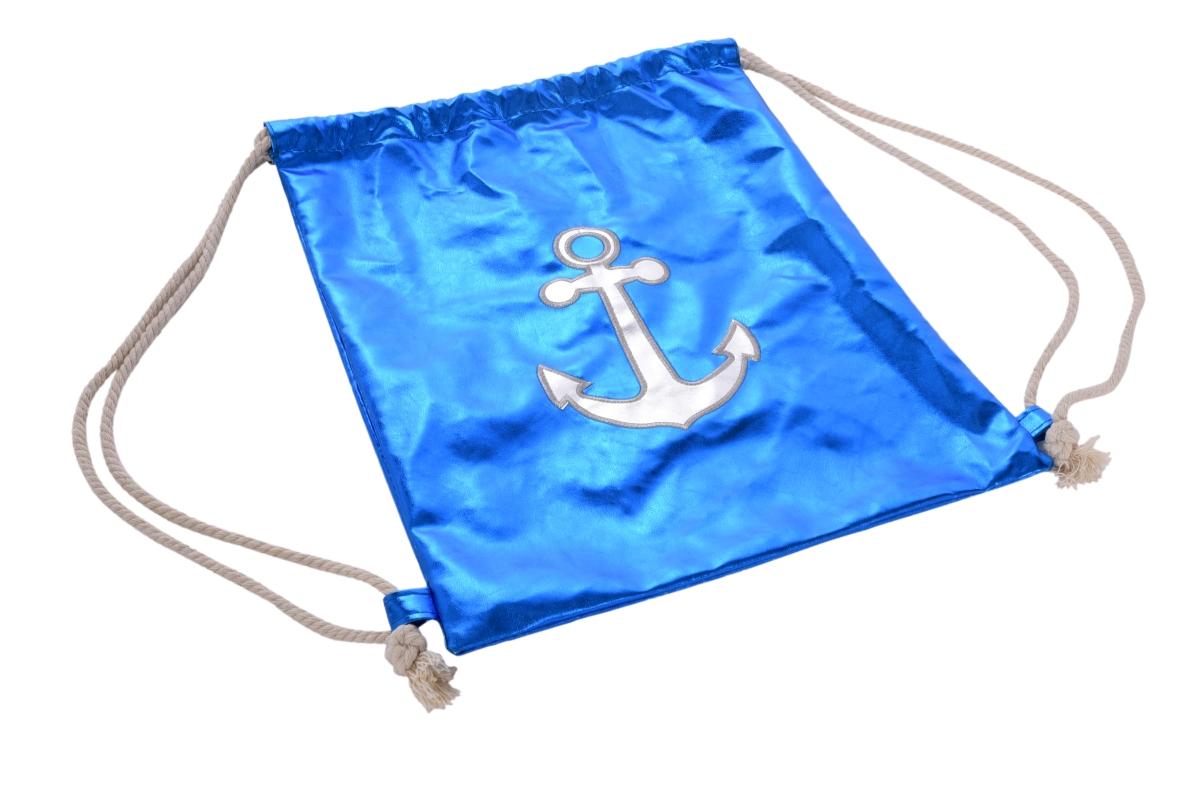 FC21971-METALIC BAG vrece na chrbát z lesklej ekokože blue