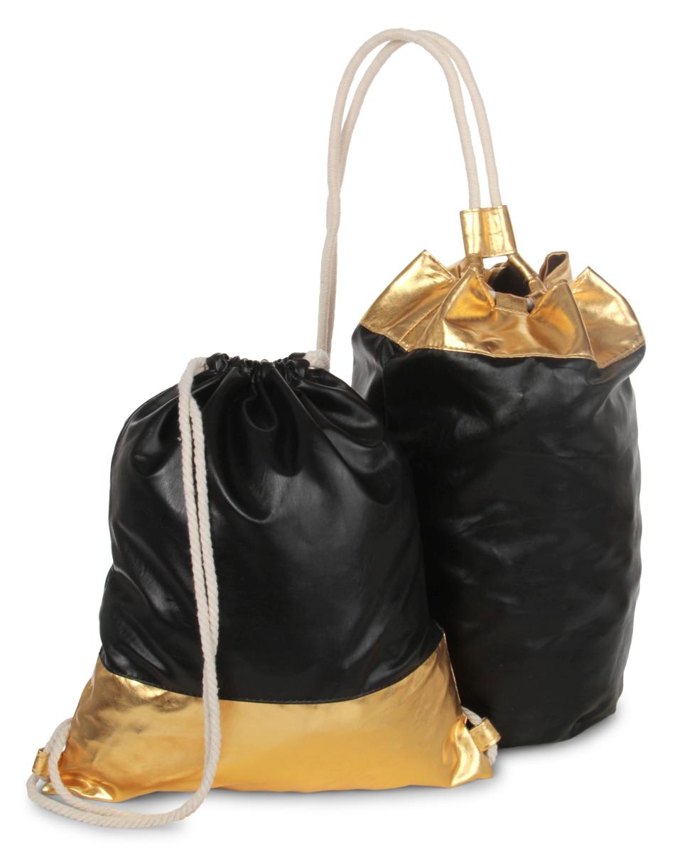 FC21951-METALIC BAG vrece na chrbát čierno zlatý
