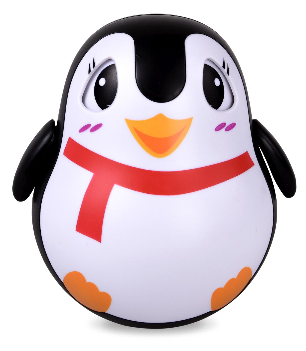 Veselý tučňák kývací, kývací, s pohyblivýma očima