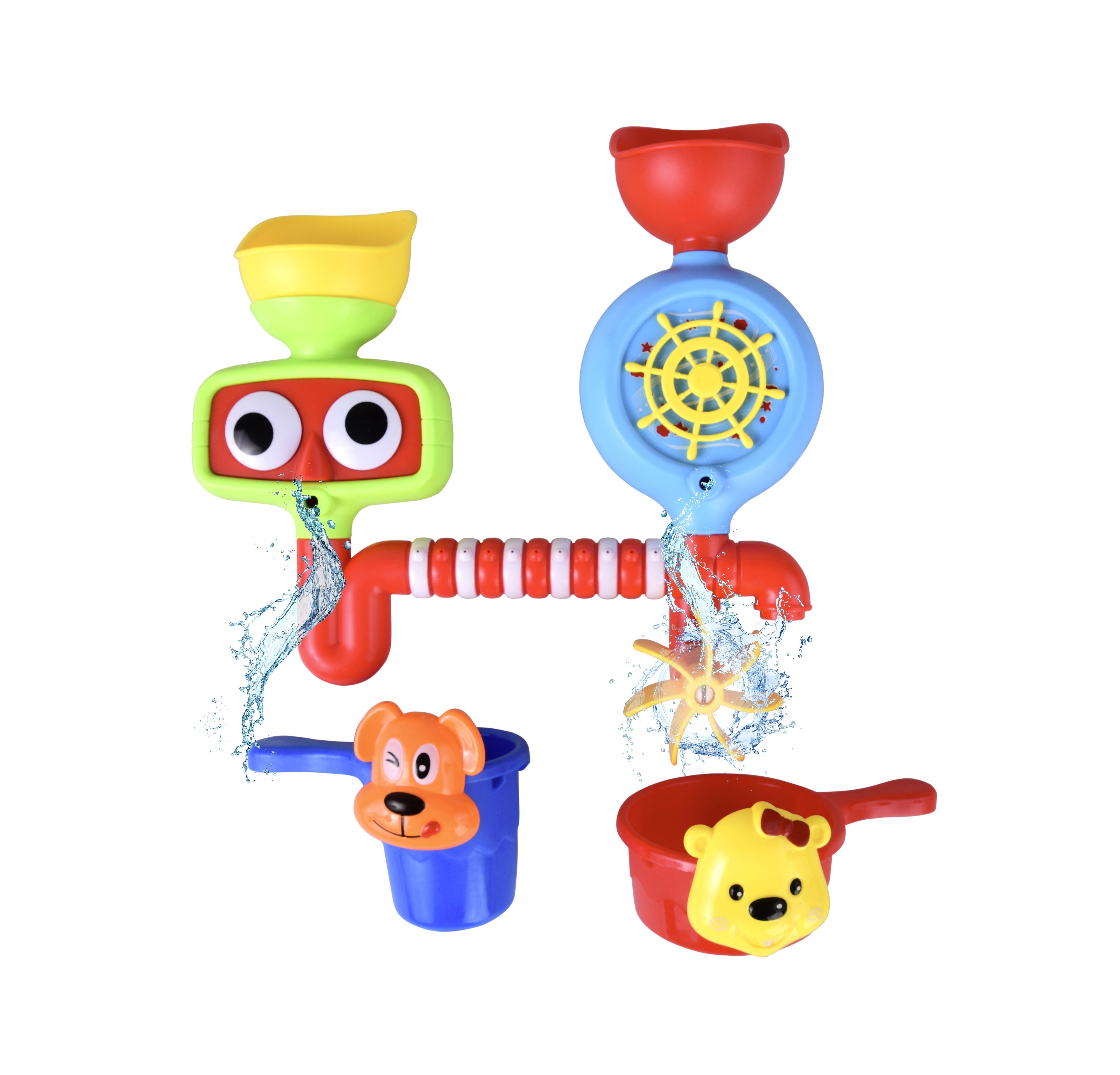 Hračka do vody a vany, s otočným vodním mlýnkem