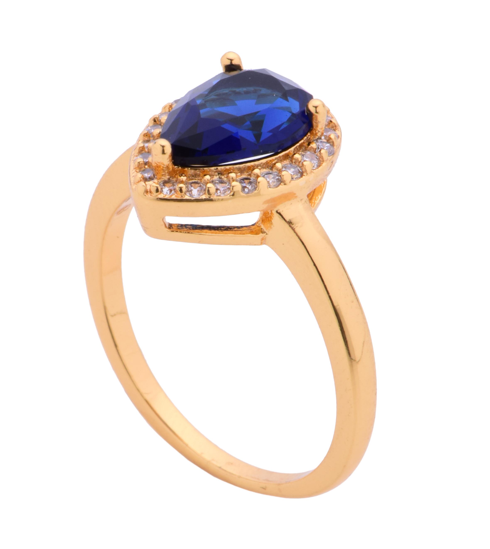 Prsten se zirkony, pozlaceno 24 Kt   3(vel.8)