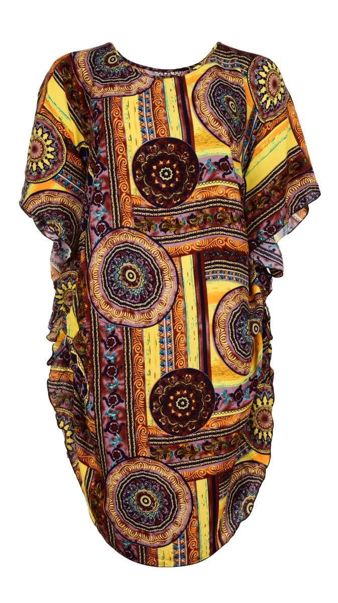 ADELE mandala ornamets vzdušné šaty