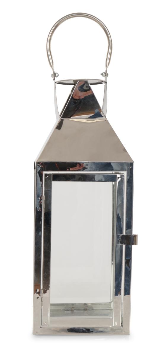 Nerezová lucerna, ve stříbrné barvě