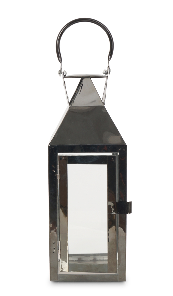 Nerezová lucerna, v lesklé černé barvě