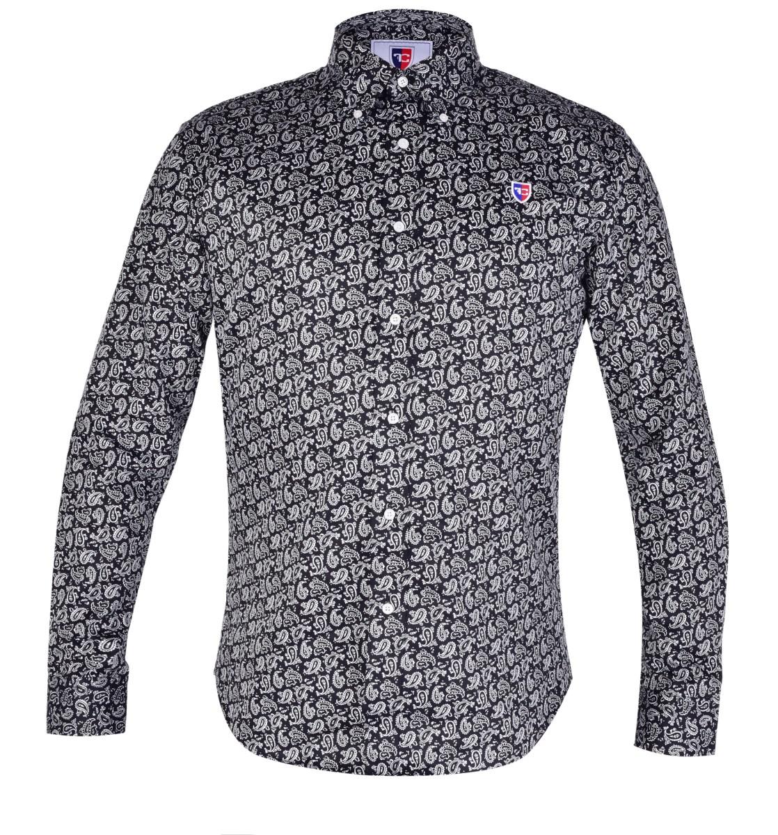 KENT DENSEFORSÉ® košile slim fit s dlouhým rukávem black with ornaments L