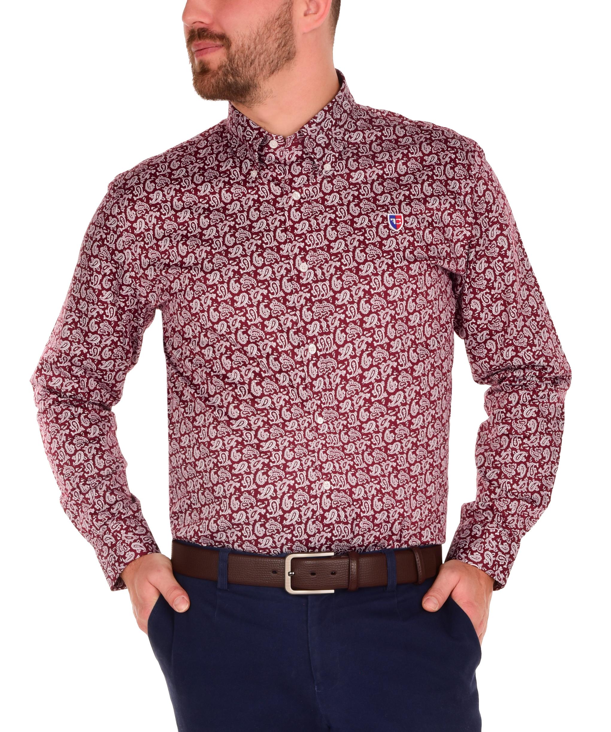 KENT DENSEFORSÉ® košile slim fit s dlouhým rukávem  ornaments L