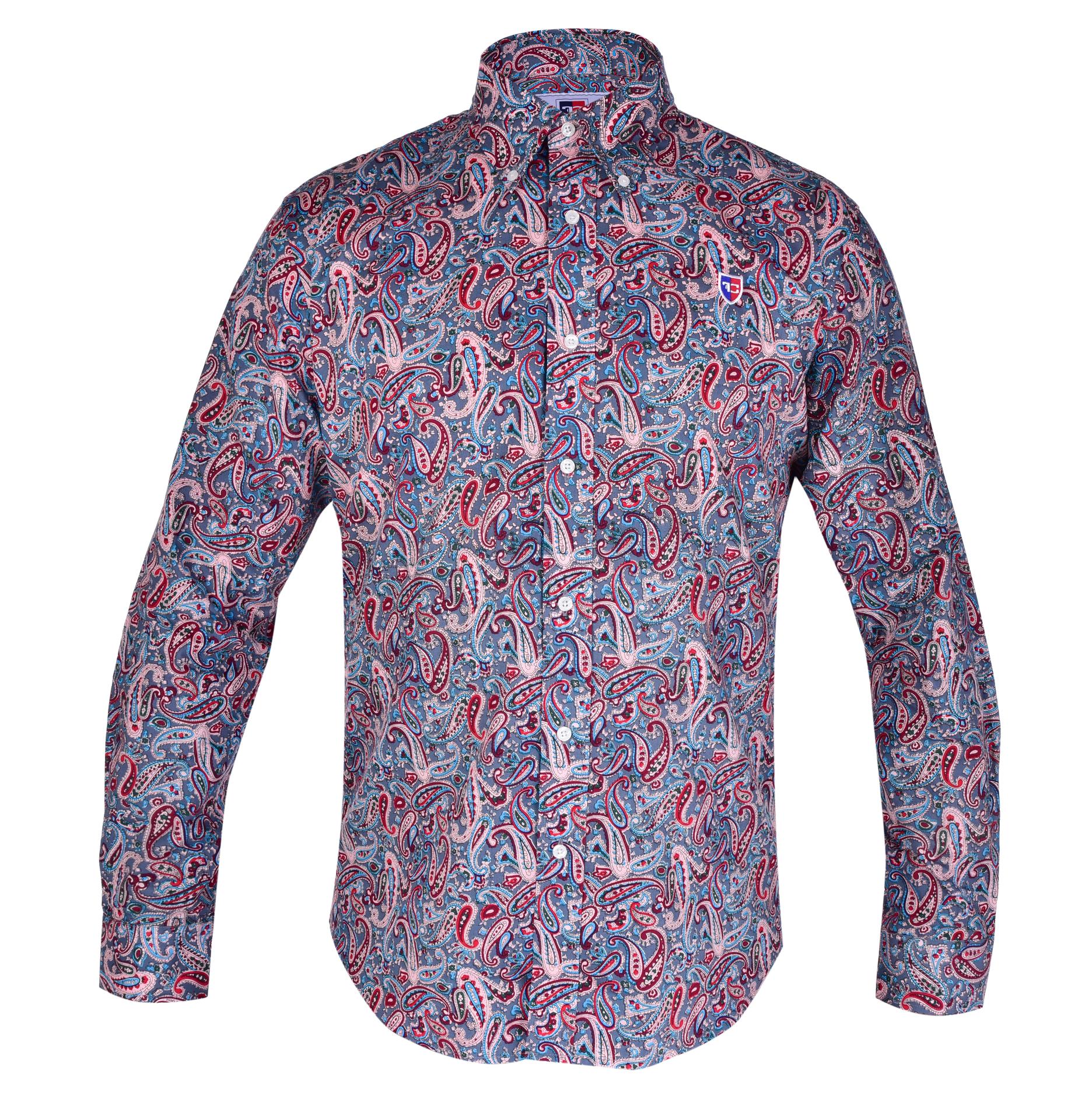 KENT košile slim fit s dlouhým rukávem  color ornaments L