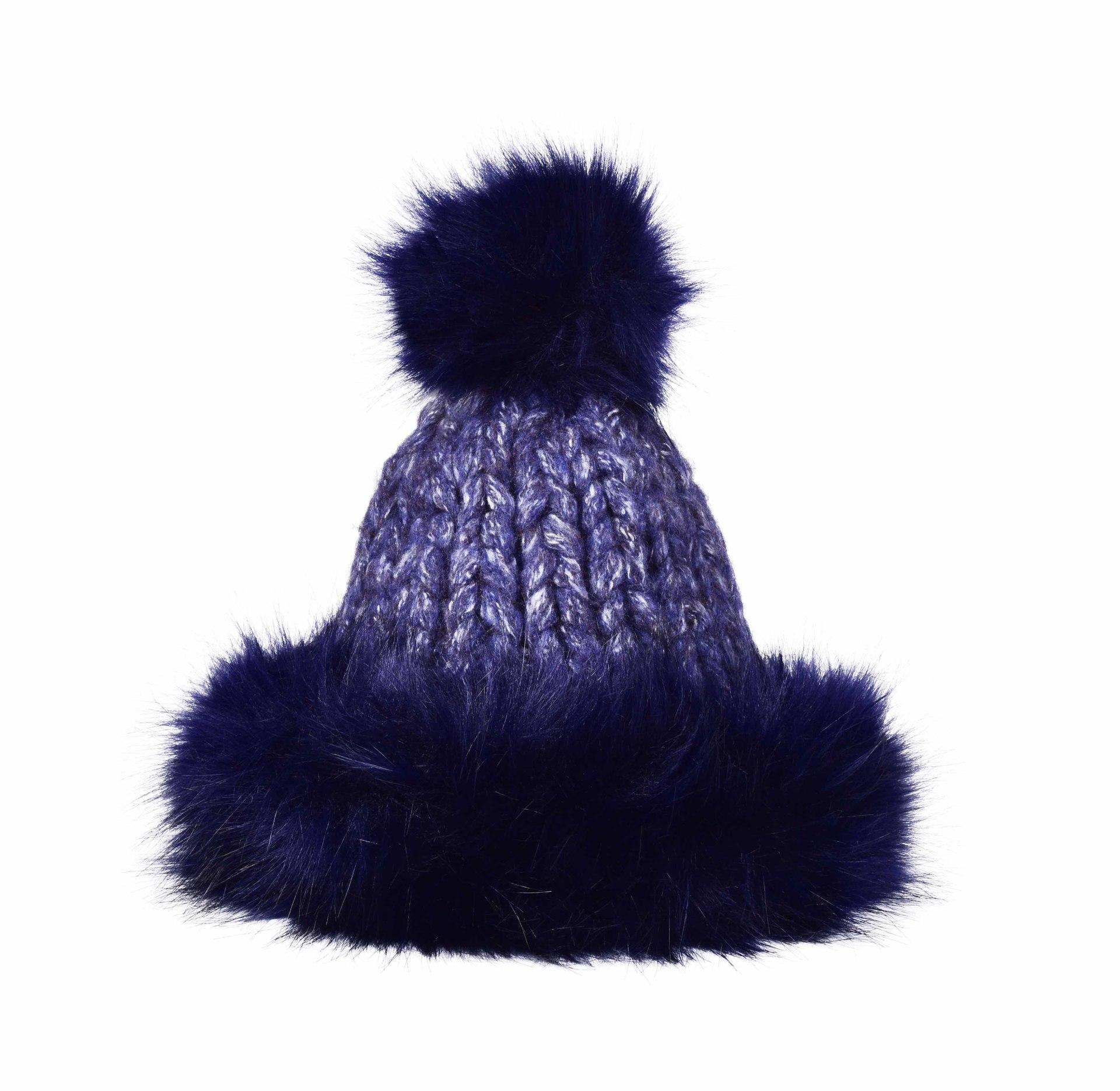 Ručně pletená čepice s teplou podšívkou POLARIS