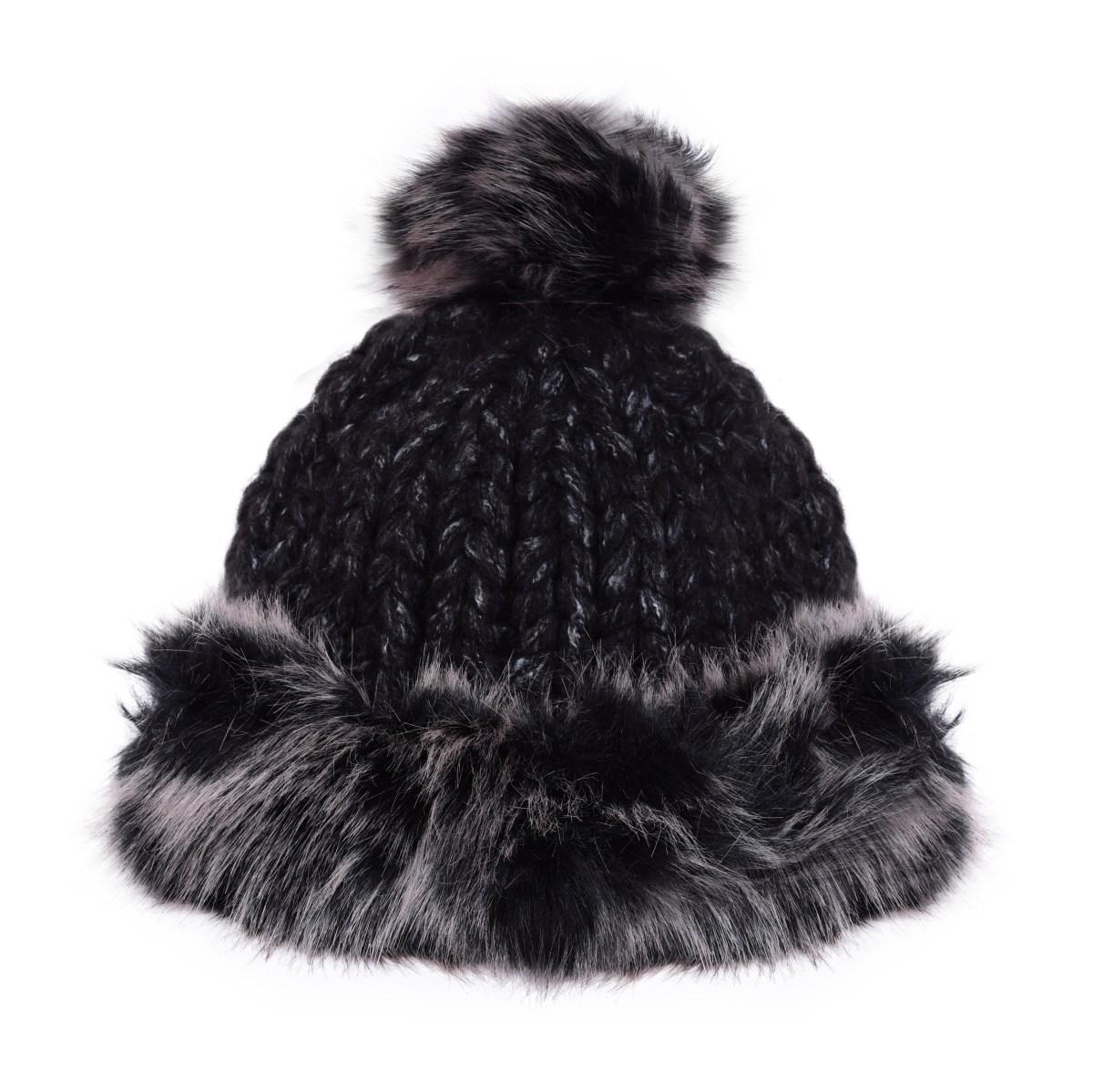 Ručně pletená čepice POLARIS black melange