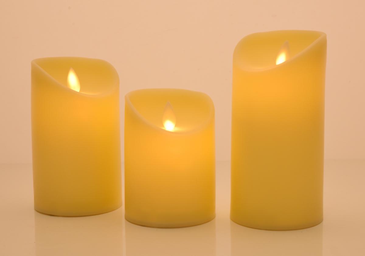 DA93266-Dancing candle tancujúce celoplastové LED sviece výška 12,5 cm