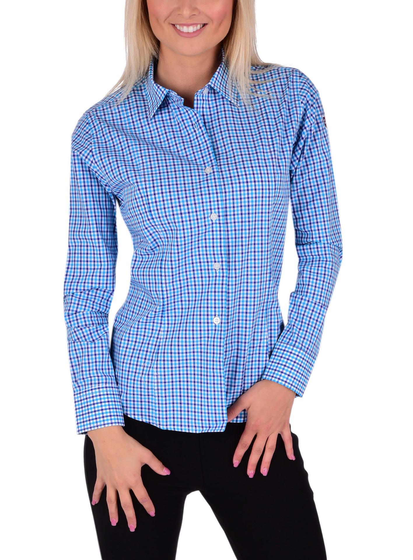 SOPHIA košile  slim fit s dlouhým rukávem blue caro  XXL