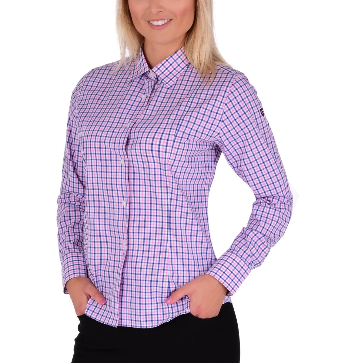 SOPHIA košile  slim fit s dlouhým rukávem blue & pink caro  vel.L