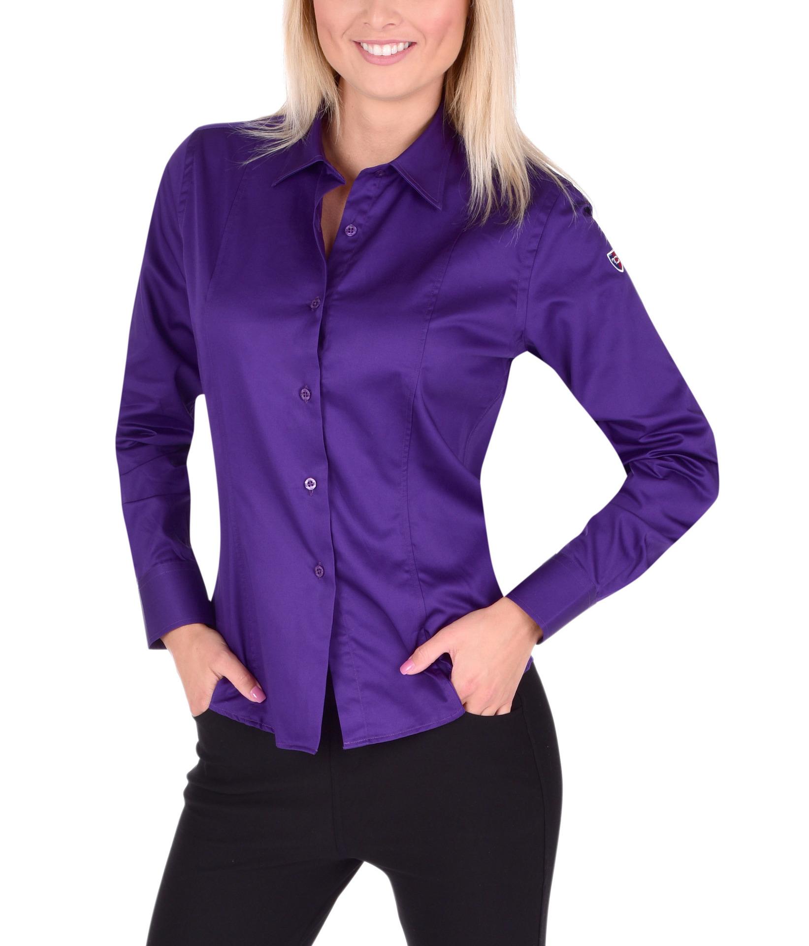 SOPHIA košile  slim fit s dlouhým rukávem dark violet L