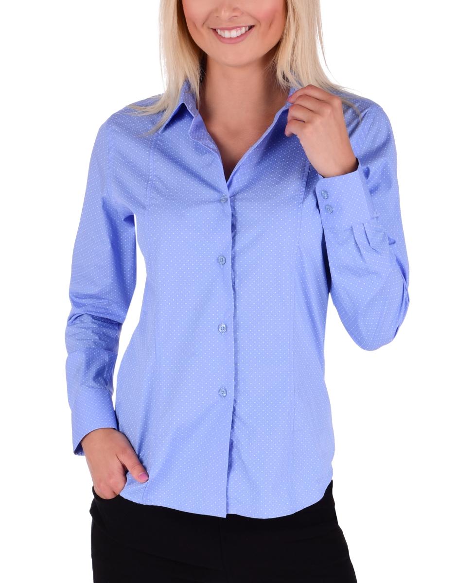 SOPHIA košile  slim fit s dlouhým rukávem blue white dots vel. L